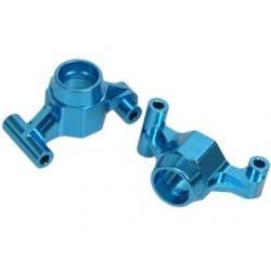 3 RACING TT01- 12/2/LB ALUMINIUN REAR HUB CARRIER 2 DEGREE (BLUE)