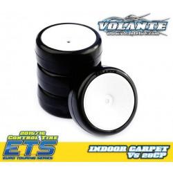 Volante V5 1/10 TC 28CP Indoor Carpet Rubber Tire Pre-glued 4pcs