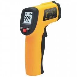 HRCSPAIN H003 Termómetro infrarrojo digital, Naranja/Negro
