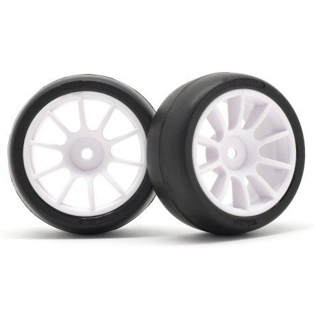 RI-26019 Pre-mounted tire set for M-Chassis Size 60 Low Profile Tire Sc32 and 10-spoke