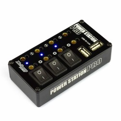 Muchmore Power Station Pro Multi Distributor (with 2A Two USB Charging Ports) - Black