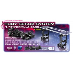 HUDY 109306 - Universal Exclusive Setup System for 1:10 Formula Cars