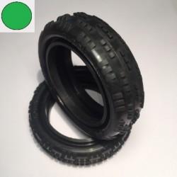Ballistic 2wd Cut-Rib Green Front Tyre