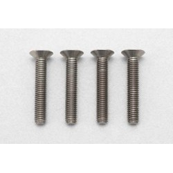 YOKOMO RP-042-18 Racing Performer High precision cutting titanium flat head screw M3×18mm