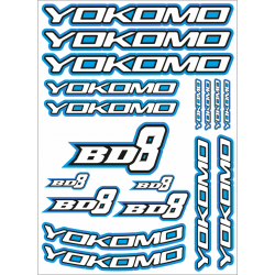YOKOMO BD8 DECAL BLUE