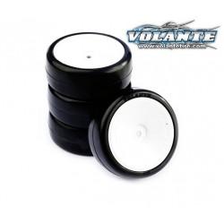 Volante V5 1/10 TC Tough Hybrid Rubber Tire Preglued 4pcs