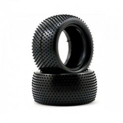 Schumacher Mini Pin 1 - Rear Tyres - Yellow (1 pair)