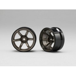Yokomo Racing Performer High Traction Type Drift Wheel 6mm Offset - Titanium