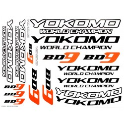 YOKOMO ZC-BD9-1 BD9 Logo Decal