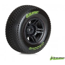 LT3146SBTF Louise SC - Groove SC Tyre With Black Rim For Traxxas Front (Mounted) - Soft - (2)