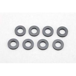 Yokomo ZC-A3620B 3×6×2.0mm Aluminum Shim (8pcs·Black)