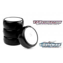Volante V7T 1/10 TC Revolution 36R Rubber Tire Pre-glued 4pcs