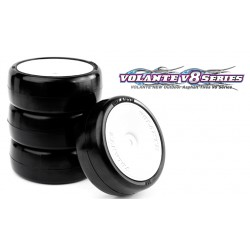 Volante V8T 1/10 TC 36R Rubber Tire Pre-glued 4pcs , Asphalt
