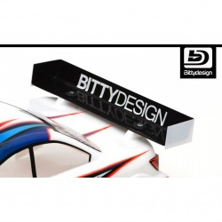 Bittydesign REAR WING 1mm (clear) 190mm TC body ? CHARGE -