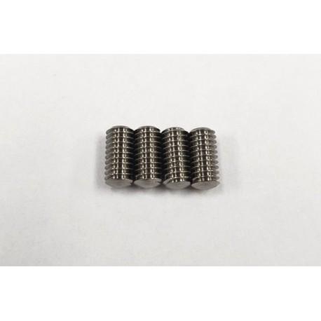 Rêve D Super Precision Machine Cut Titanium M4 x 8mm Set Screw (4pcs)