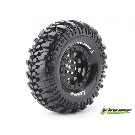 "Louise CR-CHAMP Crawler Tires on 1.9"" Black Wheels"