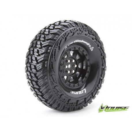 """Louise CR-GRIFFIN Crawler Tires on 1.9"""" Black Wheels"""