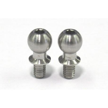 Rêve D SPM Titanium Kingpin Ball (Diameter 5.9mm, Total Length 12mm, 2pcs)