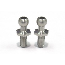 Rêve D SPM Titanium Rod End Ball M (Diameter 4.3mm, Screw Length 6.0mm, 2pcs)