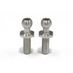 Rêve D SPM Titanium Rod End Ball L (Diameter 4.3mm, Screw Length 8.0mm, 2pcs)
